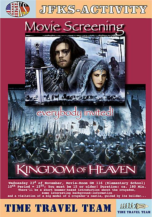 Kingdom of Heaven, Ridley Scott, TimeTravelTeamMovie